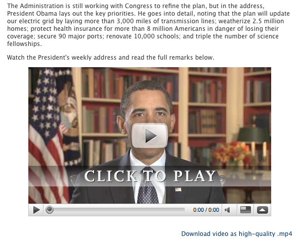 Obama's YouTube video address